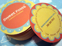 sweet folds - double-sided business cards | by starrdesign