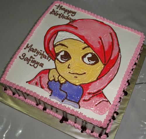 Ana Muslim Birthday Cake Kek Birthday Ana Muslim