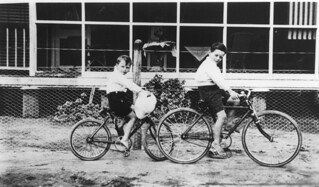 Boys on bikes at Barramornie Station, August 1924 | by State Library of Queensland, Australia