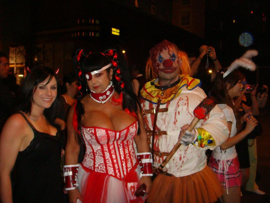 alli, busty lady, and crasy clown   tawaone   flickr
