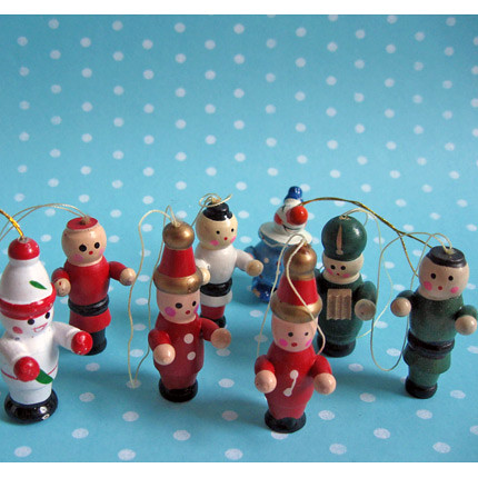 Vintage Wooden Christmas Ornament Set  A wonderful collecti  Flickr