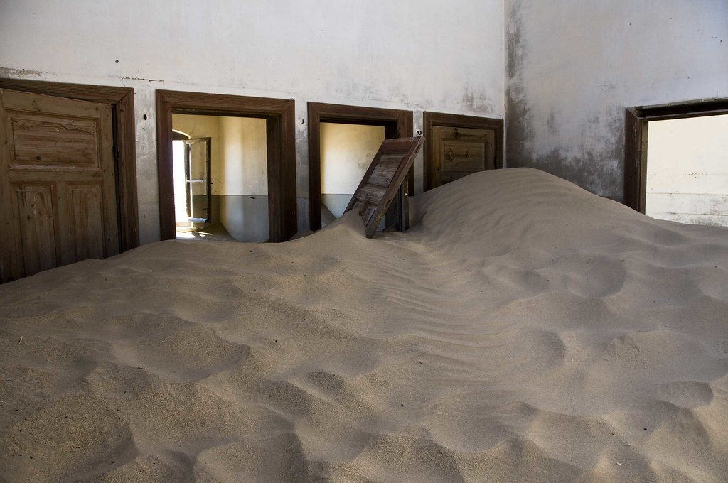 Your mom told you to close the door, didn't she?  Kolmanskop, Namibia