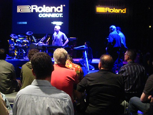 John Rudess at Roland w/ Robin | by psycht