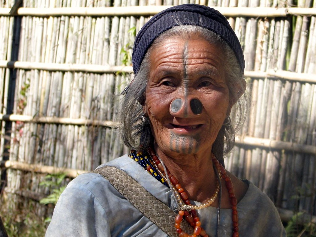 Apatani Lady With Huge Nose Piercings India Arunachal Pra Flickr