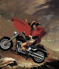 Napoleon Bonaparte on a Motorcycle (Photoshop) | by khateeb88