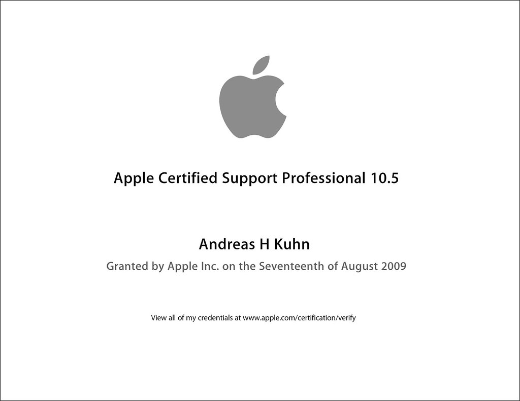 Apple Certified Support Professional 105 Acsp Andreas K Flickr