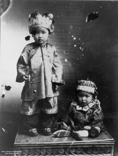 Children in traditional Chinese costume, Cooktown | by State Library of Queensland, Australia
