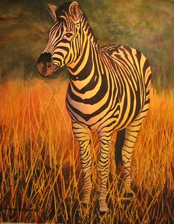 Zebra II watercolor | by painted path