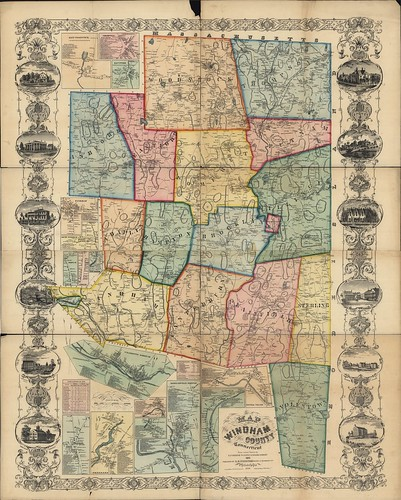 Map of Windham County, Connecticut | by uconnlibrariesmagic