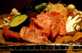 hida beef on magnolia leaf with miso paste, takayama | by hopemeng