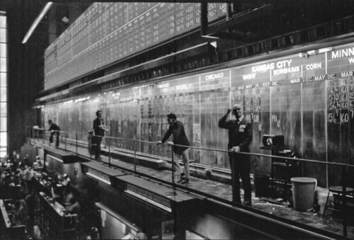 Chicago Board Of Trade 1971 They Used Blackboards And