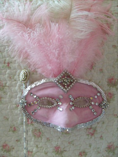 silver,pink shabby,cottage,french,victorian,marie antoinette,alterd art ,mask 1 | by stephanies cottage!
