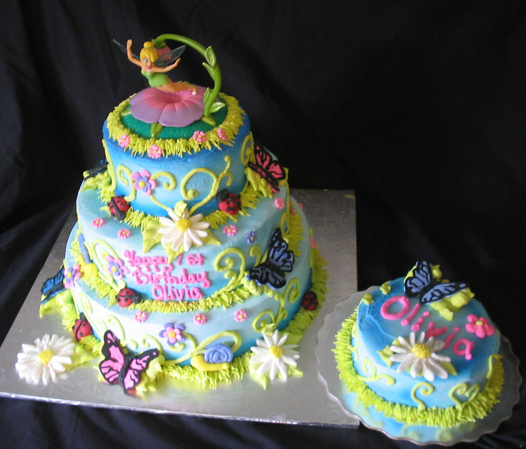 Tinkerbell Garden Mini Tier 1st Birthday Giggys Cakes And Sweets