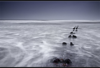 Sandsend | Groynes | by Paul Santos Photography