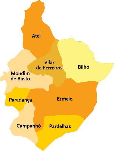 mapa de mondim de basto Concelho de Mondim de Basto | Mapa das freguesias | Jorge Bastos  mapa de mondim de basto