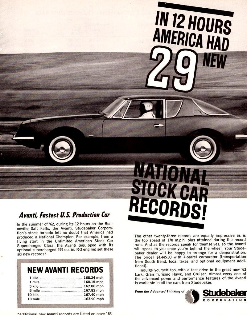 1963 Studebaker Avanti, Fastest U.S. Production Car   Flickr