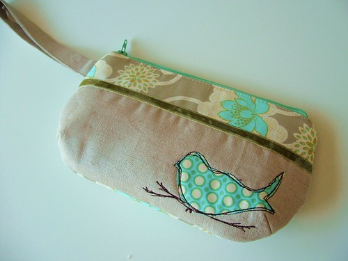 wristlet bluebird | by pinklemonadeboutique