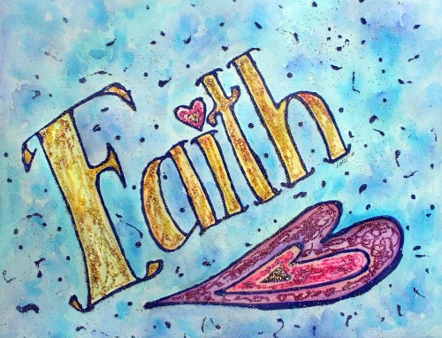 Faith Inspirational Word The Word Quot Faith Quot Is Painted