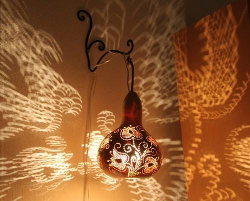... Tulip Garden Gourd Lamp Www.gourdlamps.com | By Serkaart
