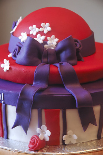 Red Hat Society Cake 80th Birthday Cake For A Lady In A