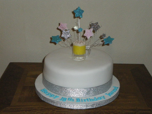 18th Male Birthday cake 8 inch round sponge cake with ...