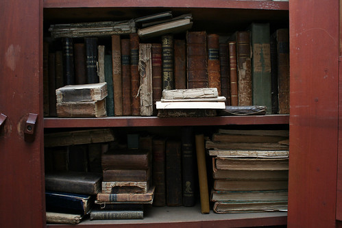 Old books in Sarah's house | by lungstruck