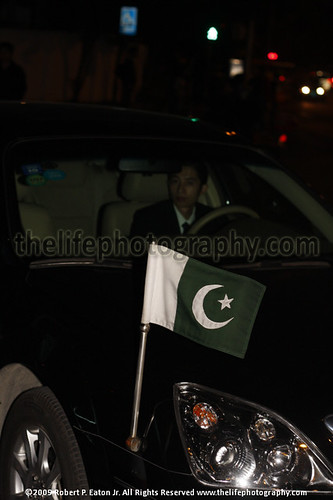 A Pakistani official car in Downtown Guangzhou, China, displayin | by thecenterofthenet.com