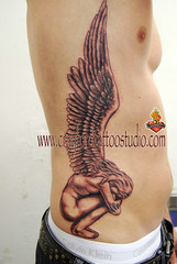 Crouching Angel Tattoo | by Flaming Art Tattoo