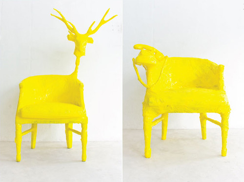 yellow furniture. Yellow Tap Covered Furniture | By Jacqui.ma R