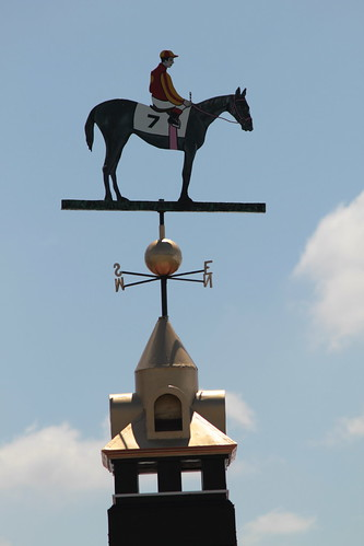 at the end of the Preakness they painted the weathervane to match the winner | by Fisherga