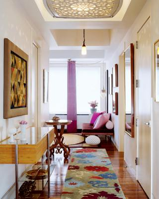 Colorful Modern Eclectic Ideas For The Hallway From El