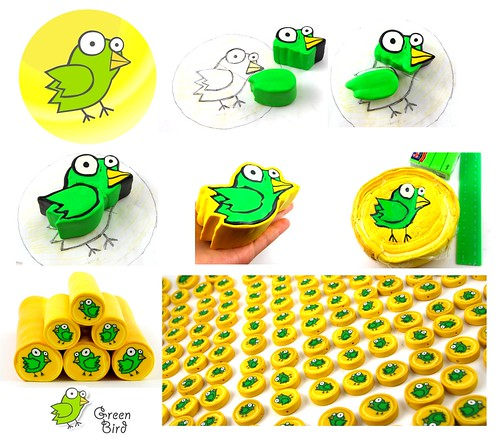 Green Bird Polymer Clay Beads Creation | by _shimshoni