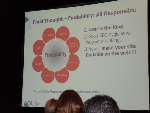 Findability - All responsible - User is King Good SEO ...