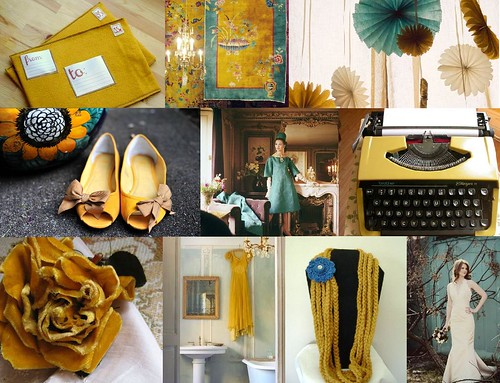 Teal mustard wedding