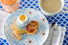 "Soft Boiled Eggs with Toast ""Soldiers"" and Pancetta Chips 3 