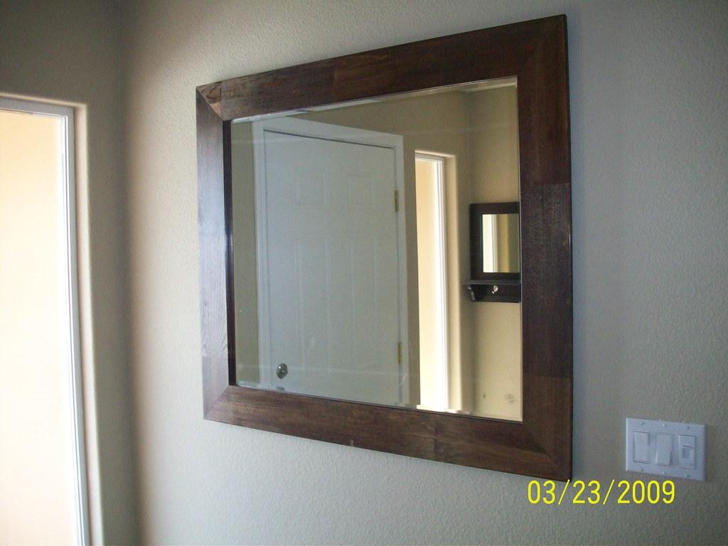 large wood framed wall mirror by jjkadaba69