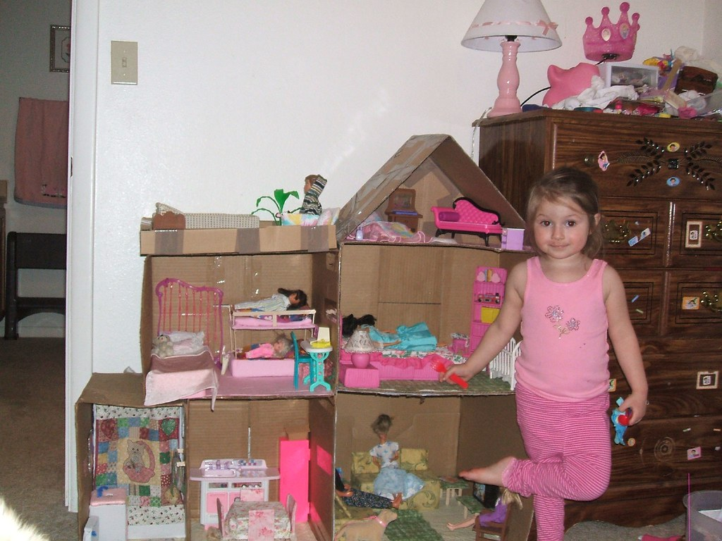 Julia S Barbie Doll House Julia Is Standing In Front Of Th Flickr