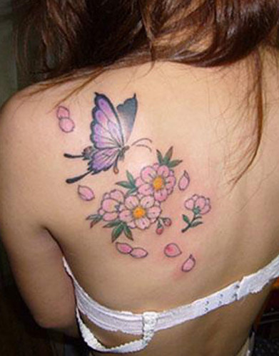 Cherry Blossoms And Butterfly 沙門のブログ Ameblojpsamontattoo