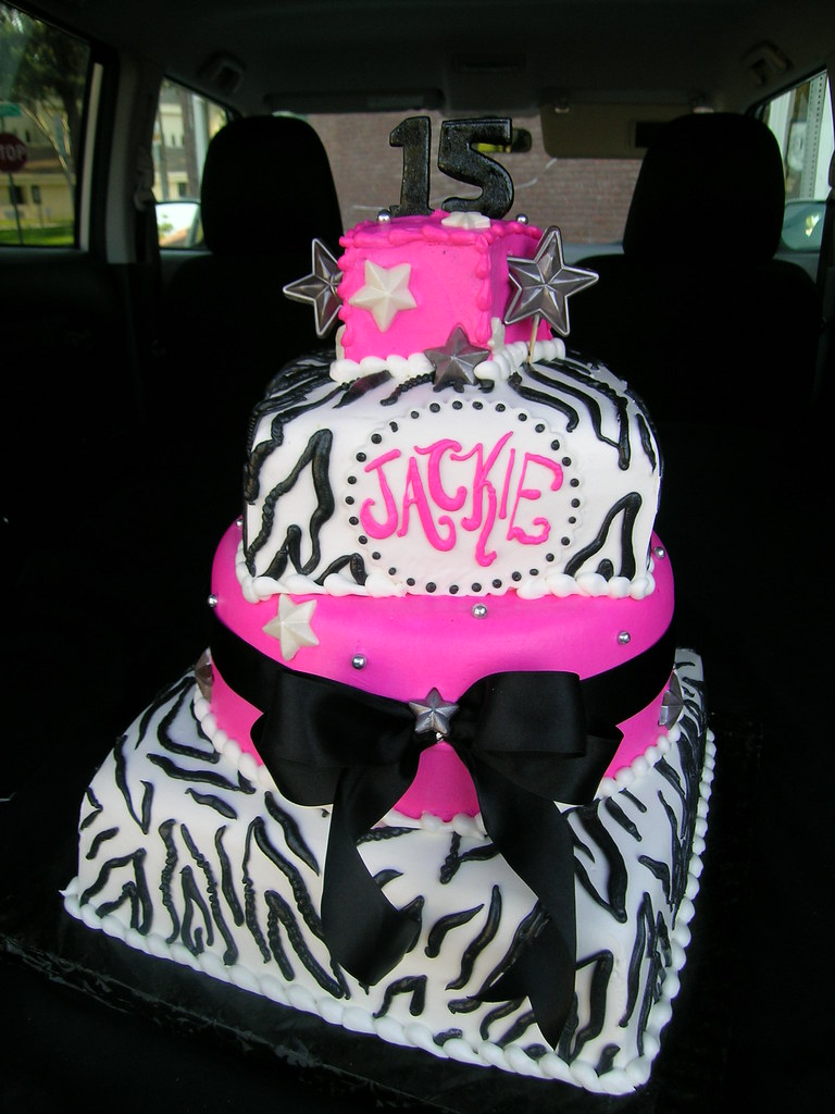 Hot Pink Zebra Cake Andrea Moreno Flickr