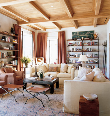 michael s smith white living room wood accents by sarahkaron - Michael S Smith Interior Designer