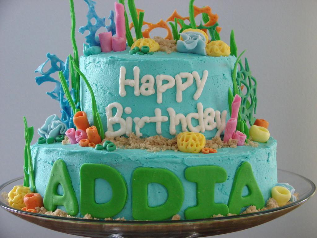 Finding Nemo Birthday Cake Top Tier Buttermilk Cake Botto Flickr