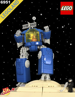 Neo Classic Space Robot Command Center HDR Box Art with Logo | by Happy Weasel