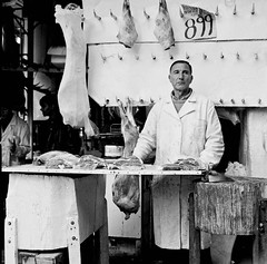 White coats series; butcher Cyprus | A butcher on the market… | Flickr