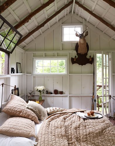 Natasha louise king white rustic modern bedroom for Contemporary designs of one bedroom cottages