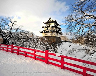 Hirosaki Castle Winter © Glenn Waters (Explored).  Over 40,000 visits to this photo. | by Glenn Waters ぐれんin Japan.