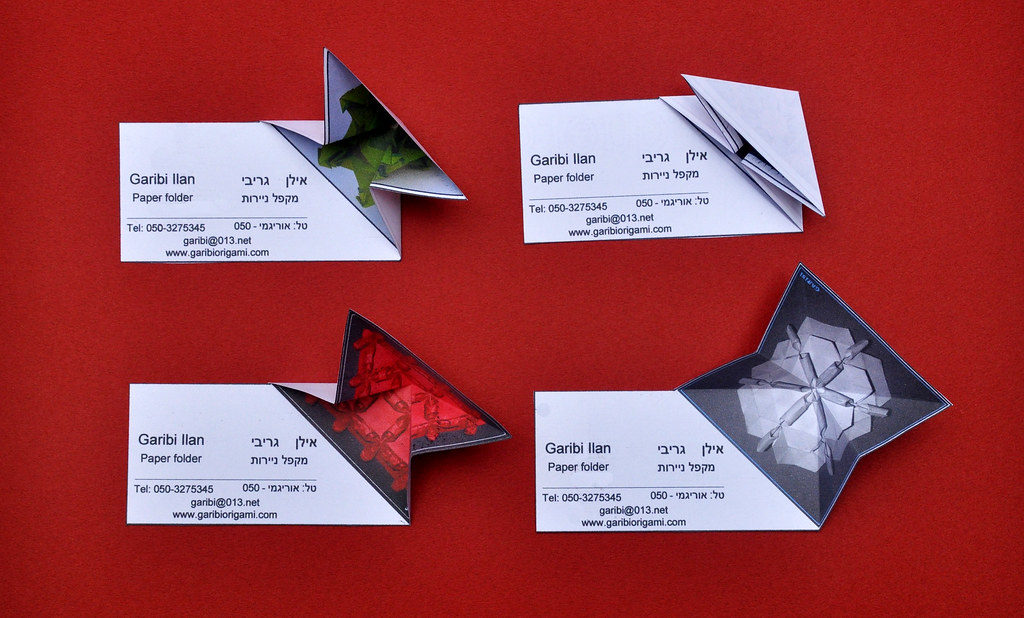 Origami Business Card | You can not print on your card that … | Flickr