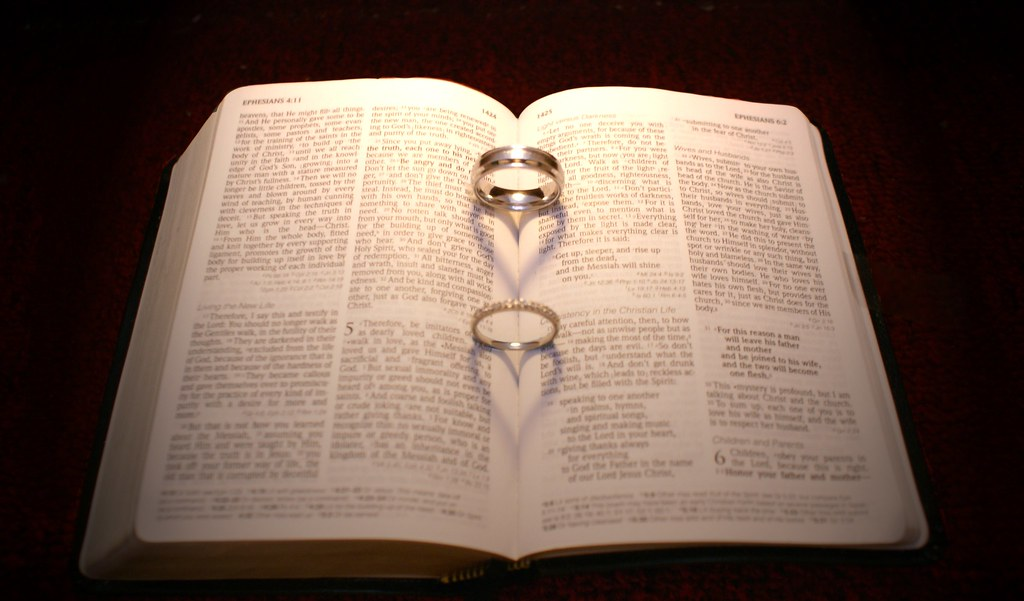 wedding rings in bible this is our wedding rings placed in flickr
