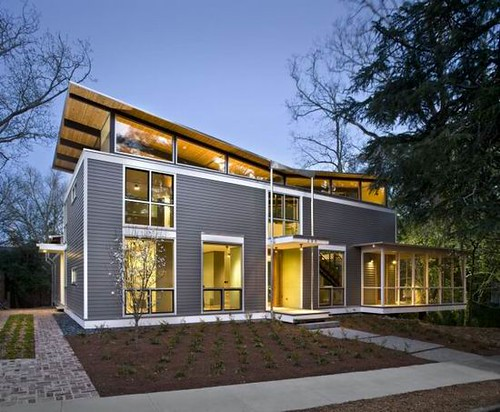03 modern rainshine house design minimalist facade exter for Minimalist townhouse design