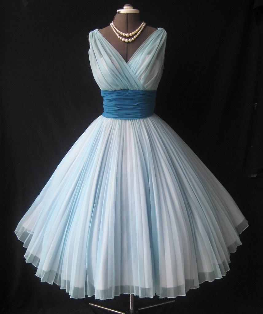 1950\'s Fred Perlberg Chiffon Prom dress | www.etsy.com/shop/… | Flickr