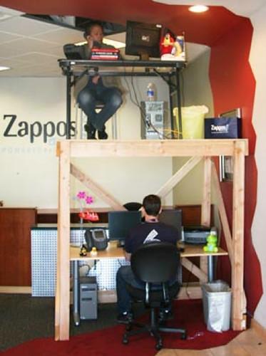 Zappos Blogs Inside Zappos Bunk Desks Crazycorporatecu